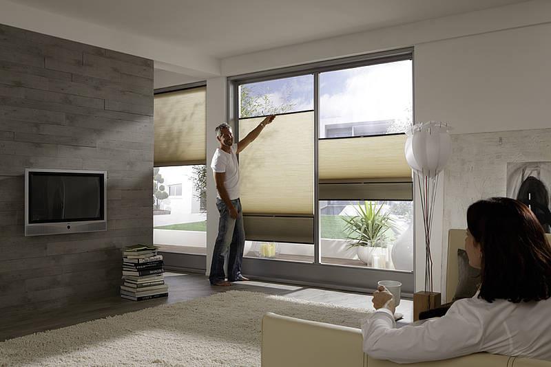 plissee nach mass inkl montage vorhang. Black Bedroom Furniture Sets. Home Design Ideas